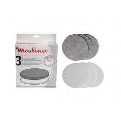 Lot 3 filtres anti-odeurs Friteuse MOULINEX